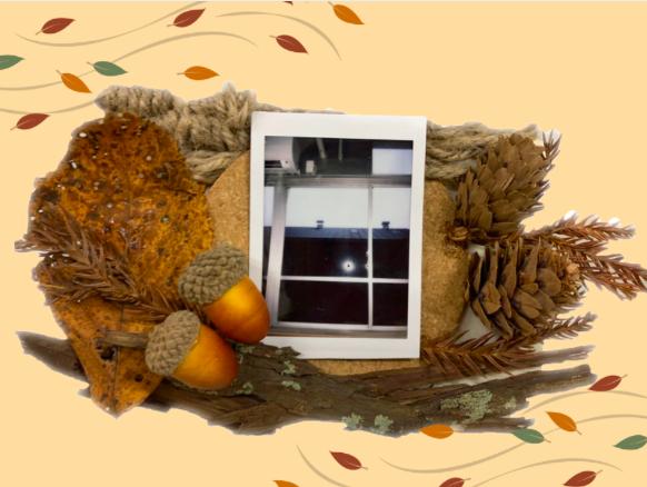 秋のフォトフレーム作り